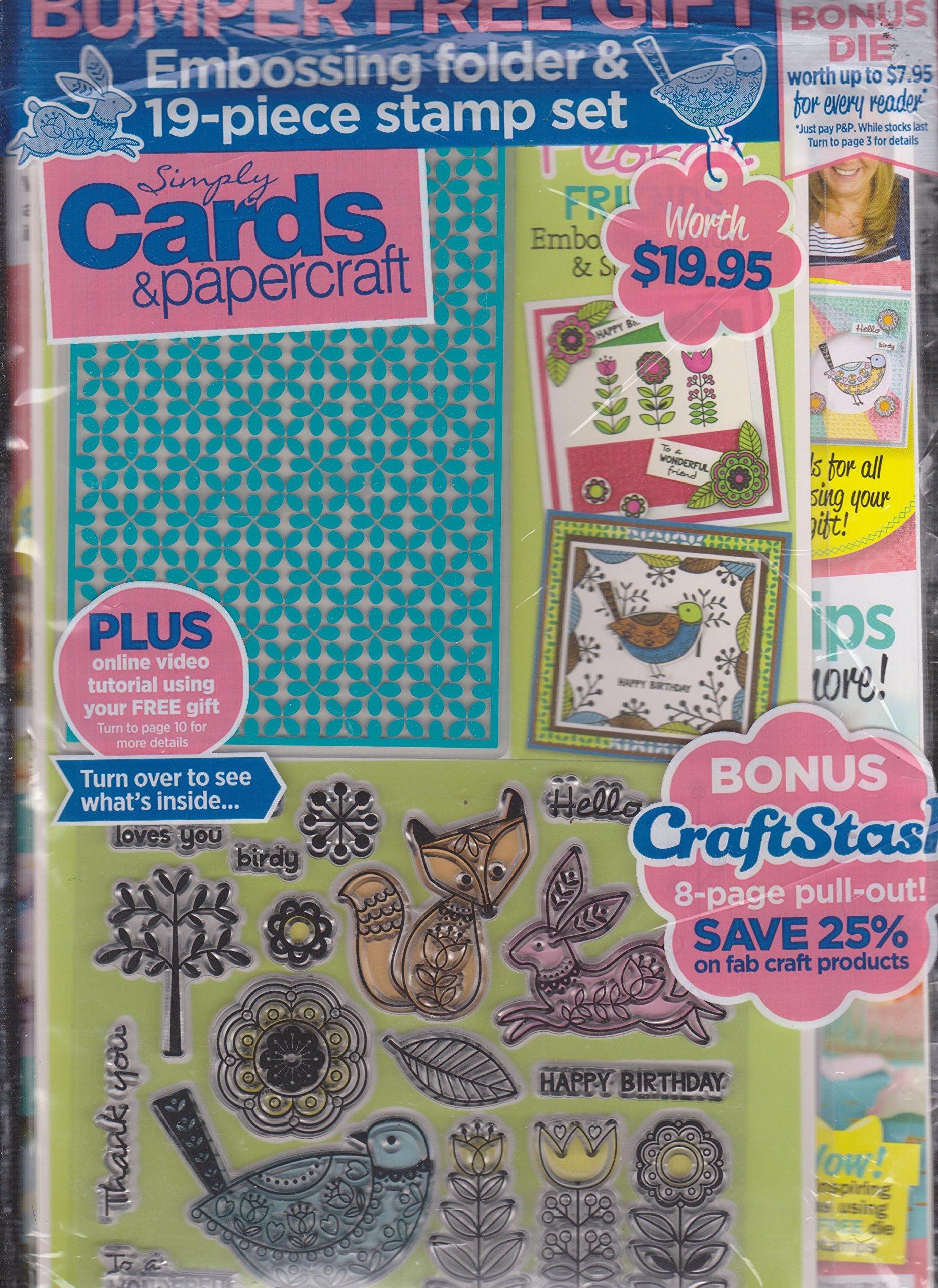 Simply Cards & Papercraft Magazine Issue 170 Embossing Folder & Stamp Set Included pdf epub