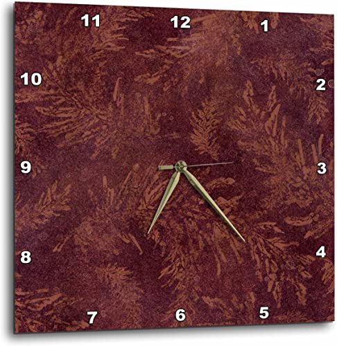 3dRose Burgundy Vines-Wall Clock, 15-inch DPP_56074_3