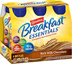 Carnation Breakfast Essentials Ready To Drink, Rich Milk Chocolate, 8 Ounce Bottle (Pack of 6)