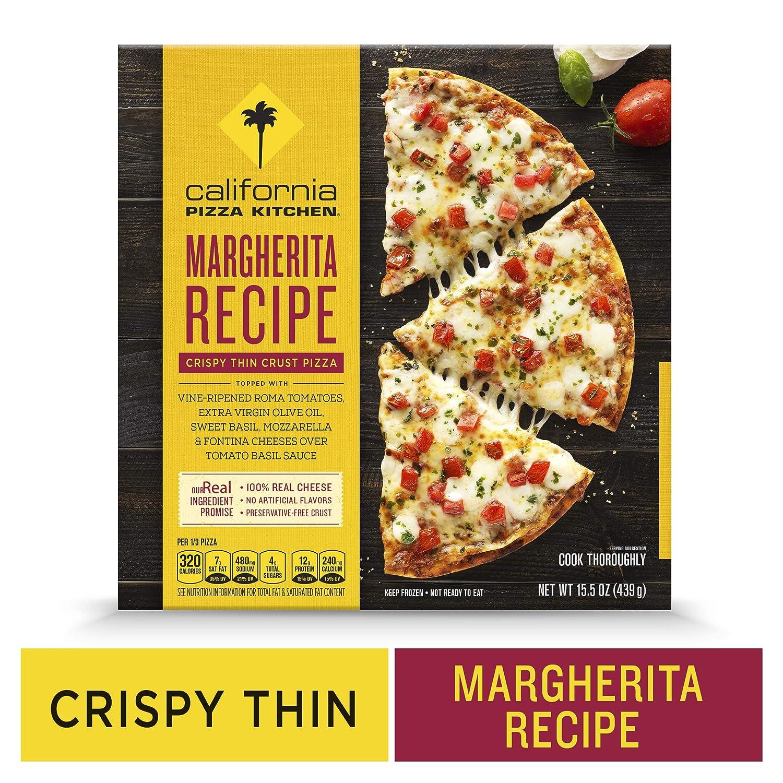 CALIFORNIA PIZZA KITCHEN Crispy Thin Crust Frozen Pizza Margherita Recipe 15.5 oz.