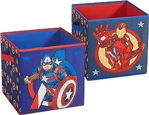 Idea Nuova Marvel Avengers Captain America and Ironman 2 Folding Storage 11.5