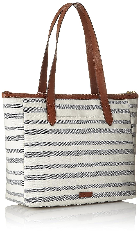 Fossil Damentasche/? Fiona Ew Shopper Cabas femme Multicolore 10.8x28.89x41.91 cm Blue Stripe B x H T