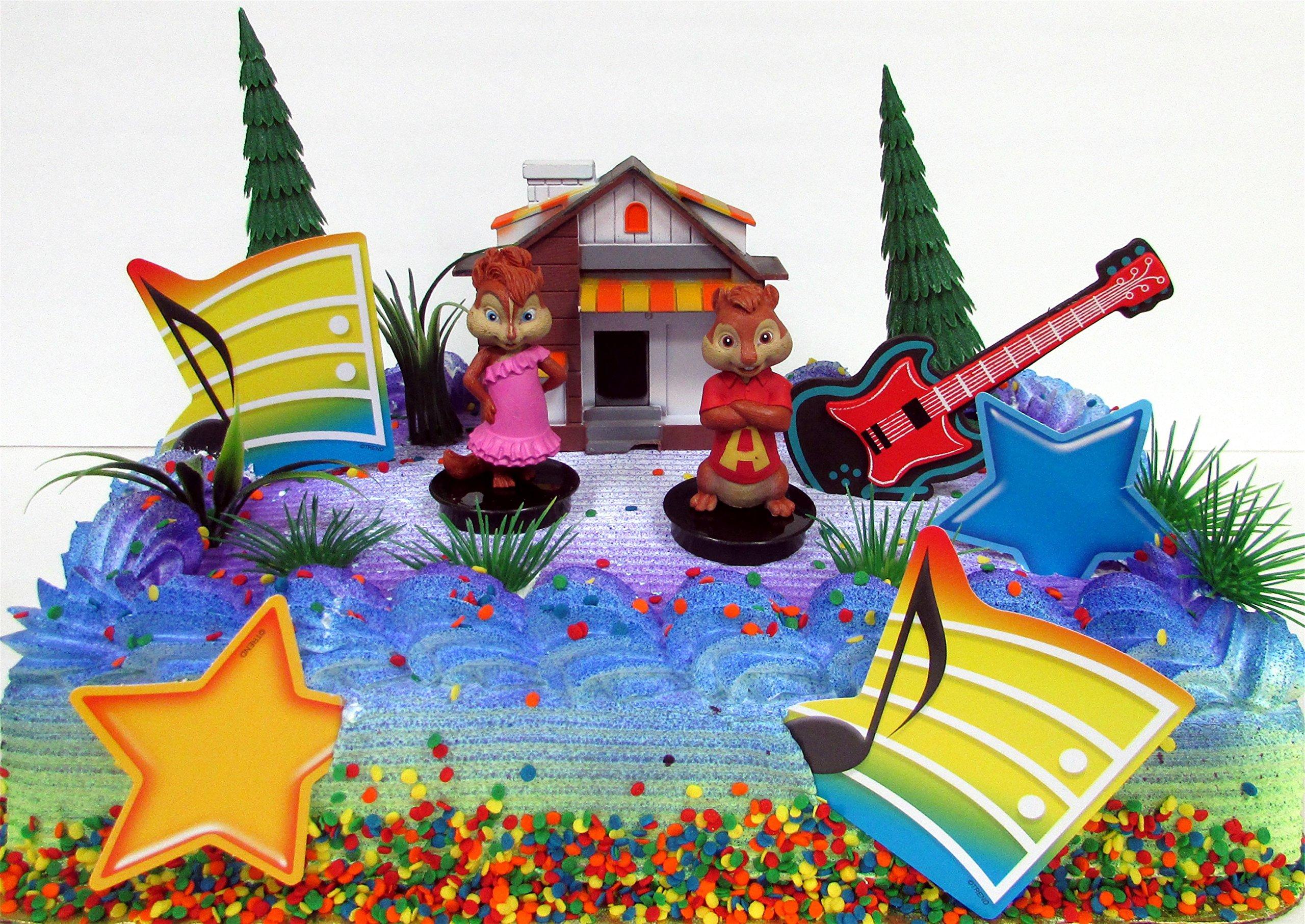 Astonishing Alvin And The Chipmunks 12 Piece Birthday Cake Topper Set Funny Birthday Cards Online Alyptdamsfinfo