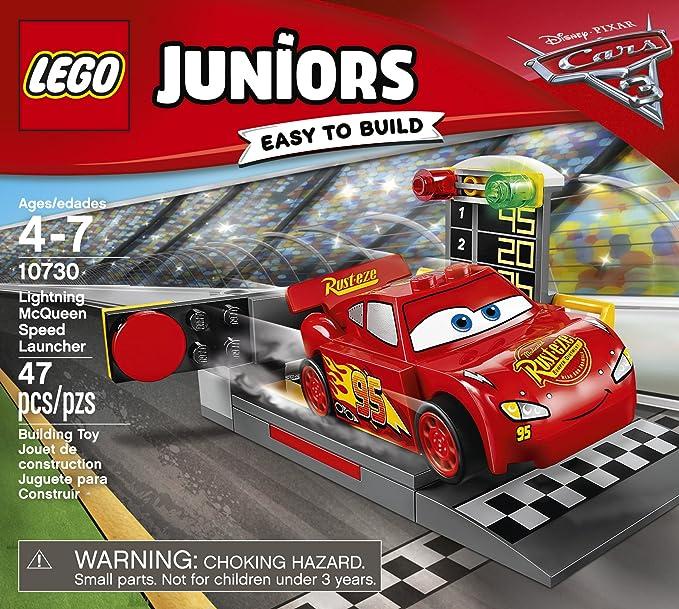 Amazon Com Lego Juniors Lightning Mcqueen Speed Launcher 10730 Building Kit Toys Games