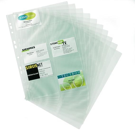 Durable 238919 Visitenkartenhüllen A4 Für Ringbücher Und Ordner 10 Stück Transparent