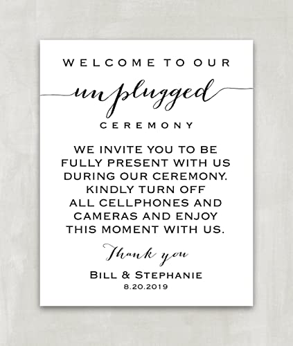 Amazon Unplugged Wedding Sign Unplugged Ceremony Sign