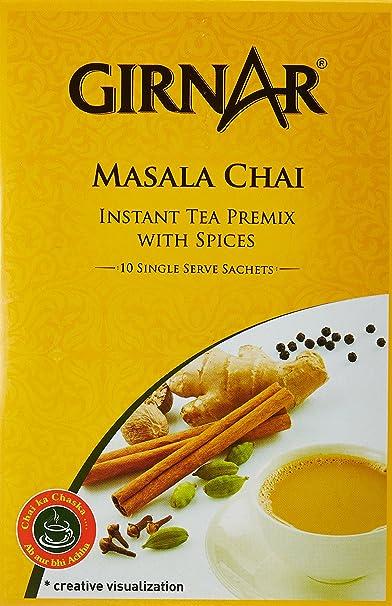 Girnar - Té instantáneo de La India con Masala 10 bolsitas: Amazon.es: Alimentación y bebidas