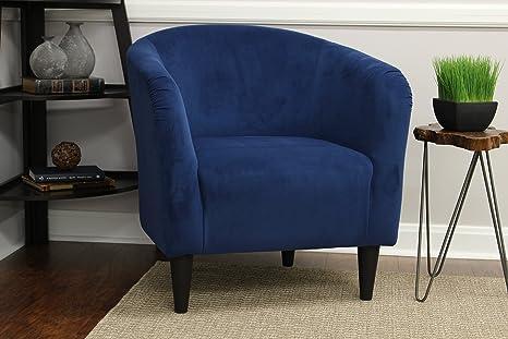Mainstays Microfiber Tub Accent Chair (Navy Blue)