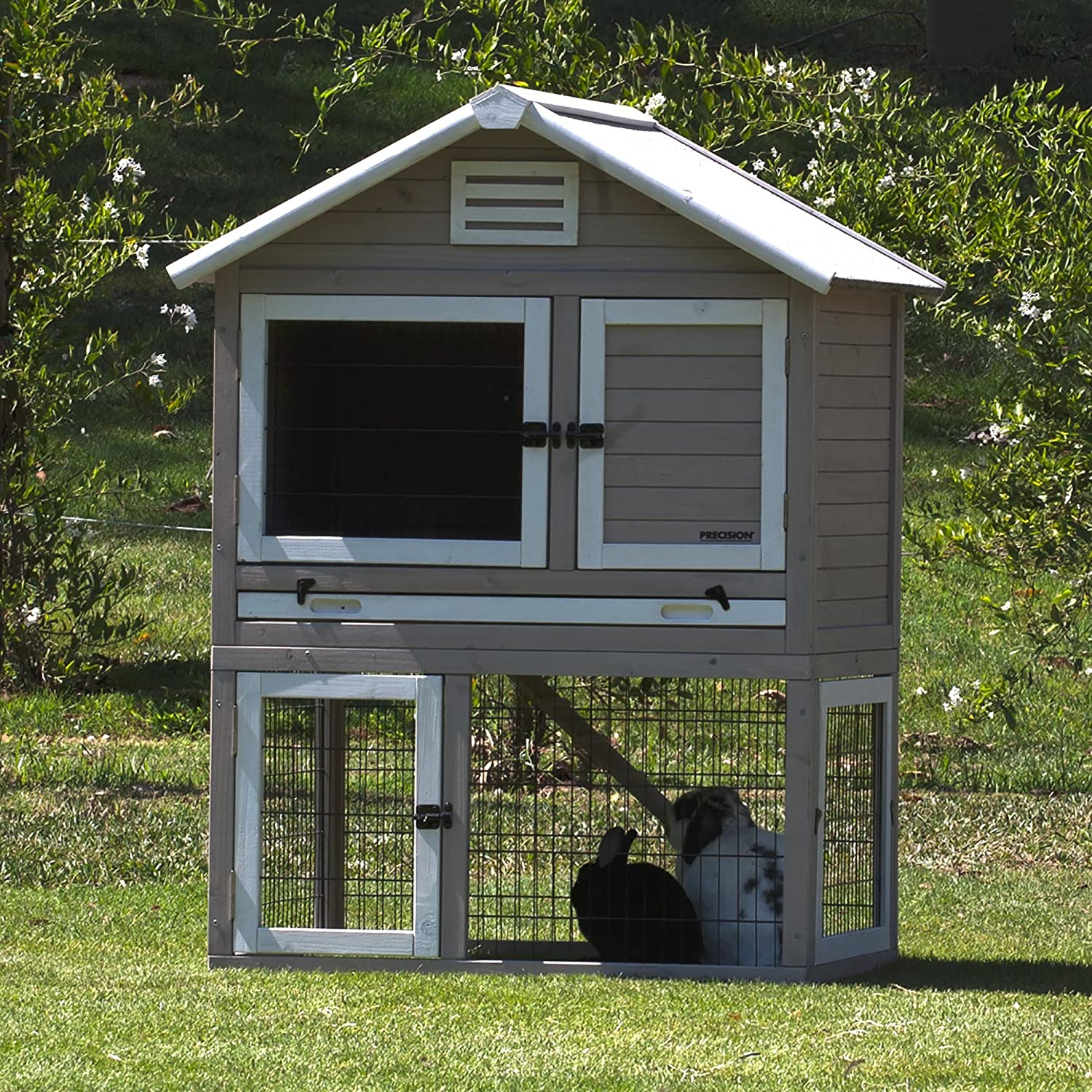 Red Large Red Large Precision Pet 7019130 Rabbit Playhouse