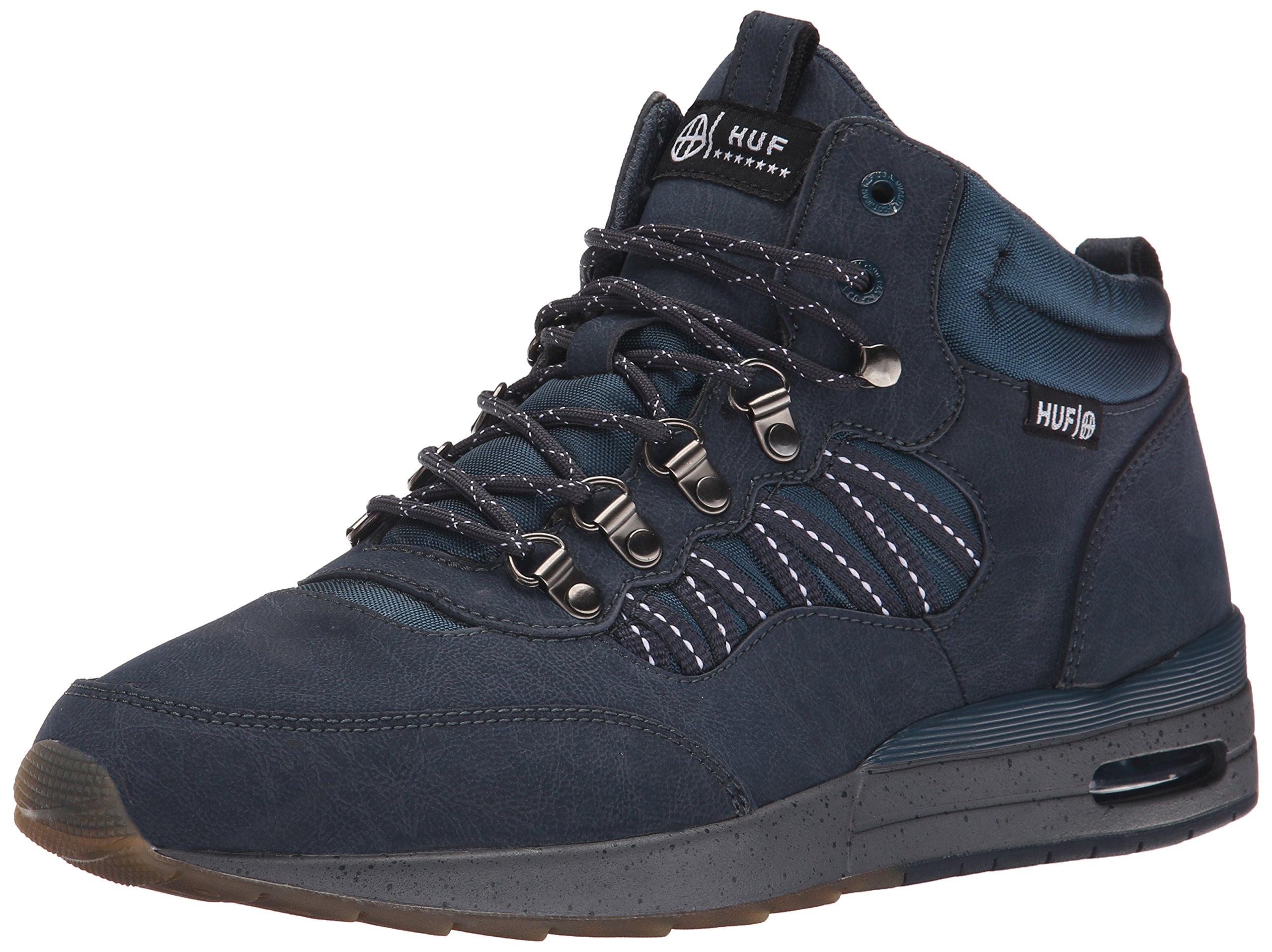 HUF Men's HR-1 Boot Inspired Runner, Dark Navy/Charcoal Grey, 11.5 M US