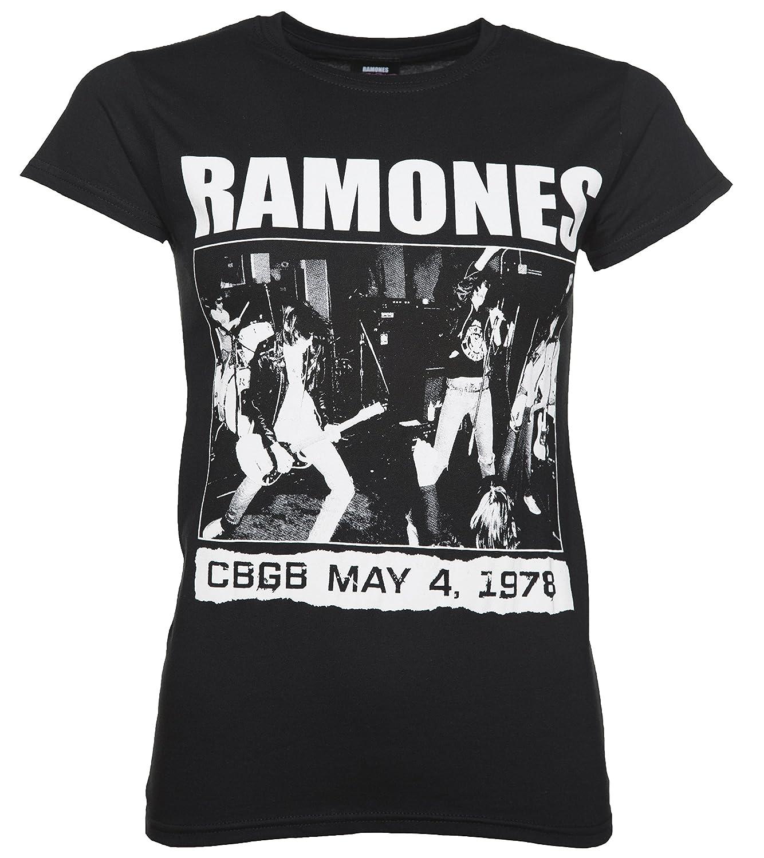 af101738a54e Amazon.com  TruffleShuffle Womens Black Ramones CBGB 1978 T Shirt  Clothing