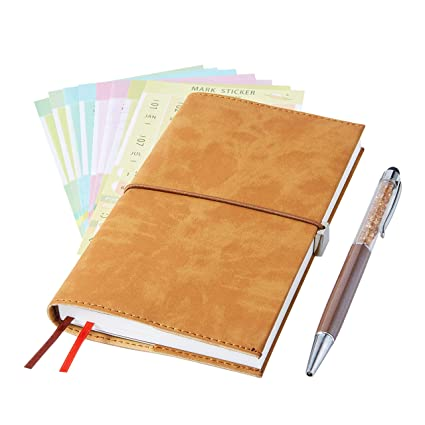 2019 Monthly Planner with Index Sticks Ballpoint Pen, Agenda Book to Achieve Your Goals Pocket Calendar 2019-2020 for Better Working Efficiency ...