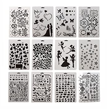 Amazon Com 12pcs Drawing Painting Stencils Scale Template Sets