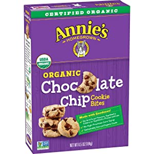 Annie's Homegrown Cookie Bites, Chocolate Chip, 6.5 Ounce