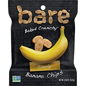 Bare Baked Crunchy Fruit Snack Pack, Banana, 0.53 Oz (Pack of 16)