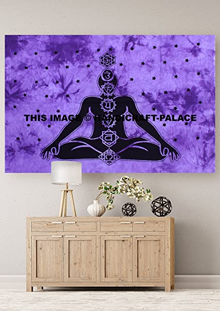 Amazon.com: HANDICRAFT-PALACE Meditation Yoga Posters Ethnic ...