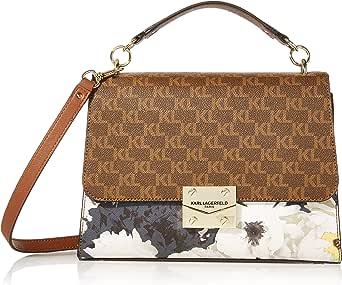 Karl Lagerfeld Paris womens Corinne Signature Top Handle Shoulder Bag Brown Size: One Size