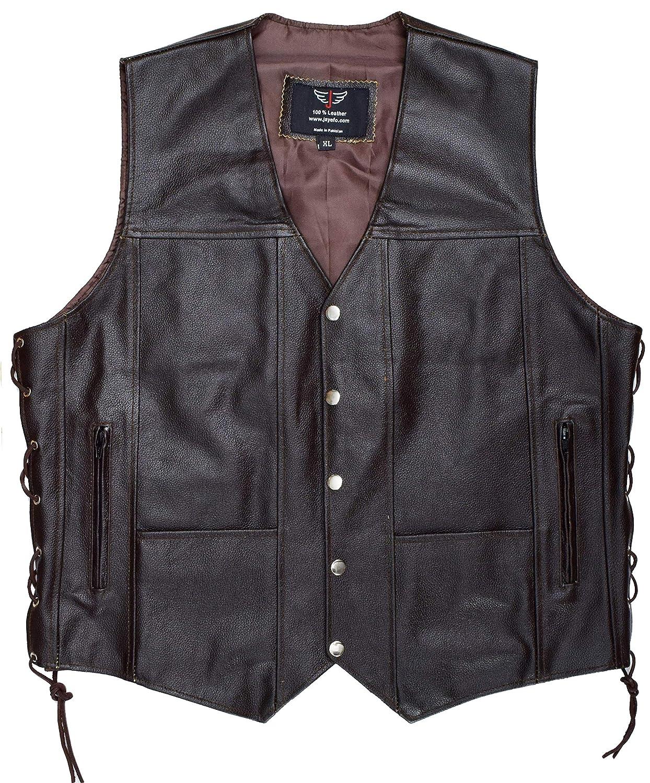 JAYEFO Leather Vest 12XL, Black