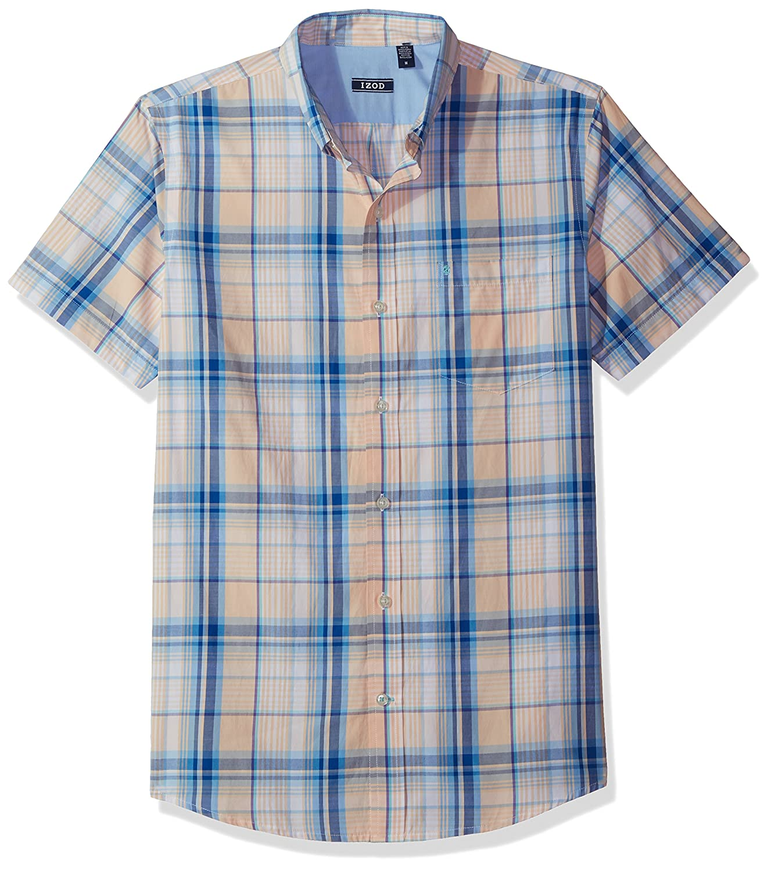 Izod Mens Advantage Performance Easycare Plaid Short Sleeve Shirt IZOD Men' s Sportswear P000438992