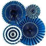 My Mind's Eye Basics Party Fans, Navy Color, Set of 4