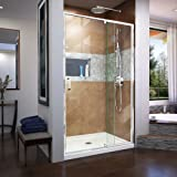 Dreamline Unidoor Plus 41 1 2 42 In W X 72 In H Frameless Hinged Shower Door In Brushed Nickel Shdr 244157210 04