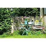 Französischer Staketenzaun Kastanie - Länge 5 Meter, Höhen 80 cm - 120 cm, Lattenabstände 4-5 cm und 6-7 (Länge x Höhe: 500 x 100 cm, Lattenabstand: 6-7 cm)