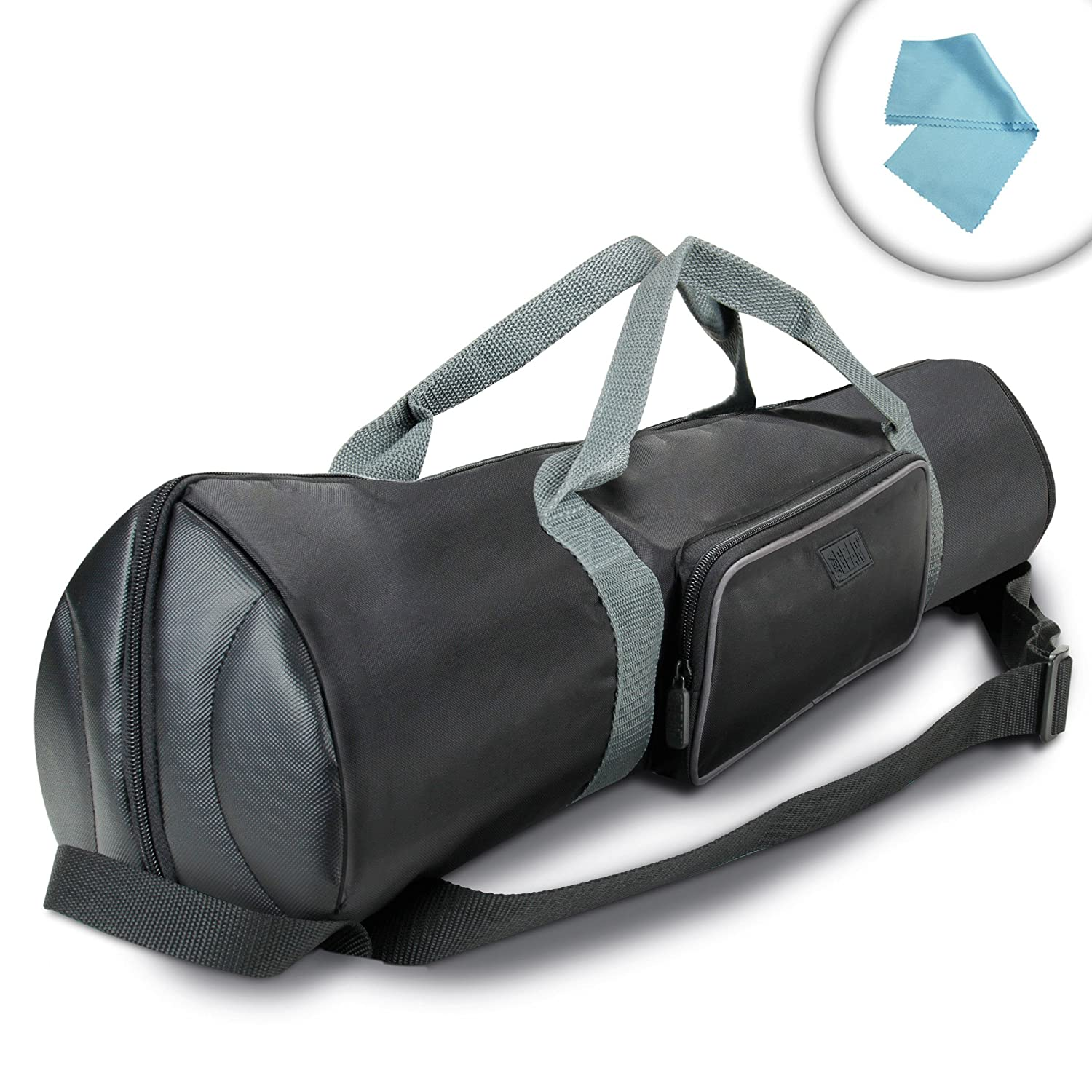 USA Gear 35 Inch Padded Tripod Carrying Case Bag with Strap , Top Expanding Extension & Accessory Storage - Works with Ravelli , Manfrotto , Benro & More 35-Inch Folded Tripods Accessory Power 4332015239