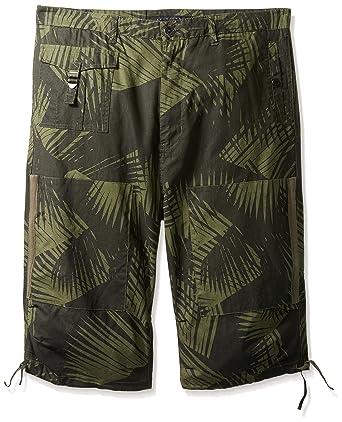 0e302930207 Amazon.com  Sean John Men s Big and Tall Printed Linen Utility Short   Clothing