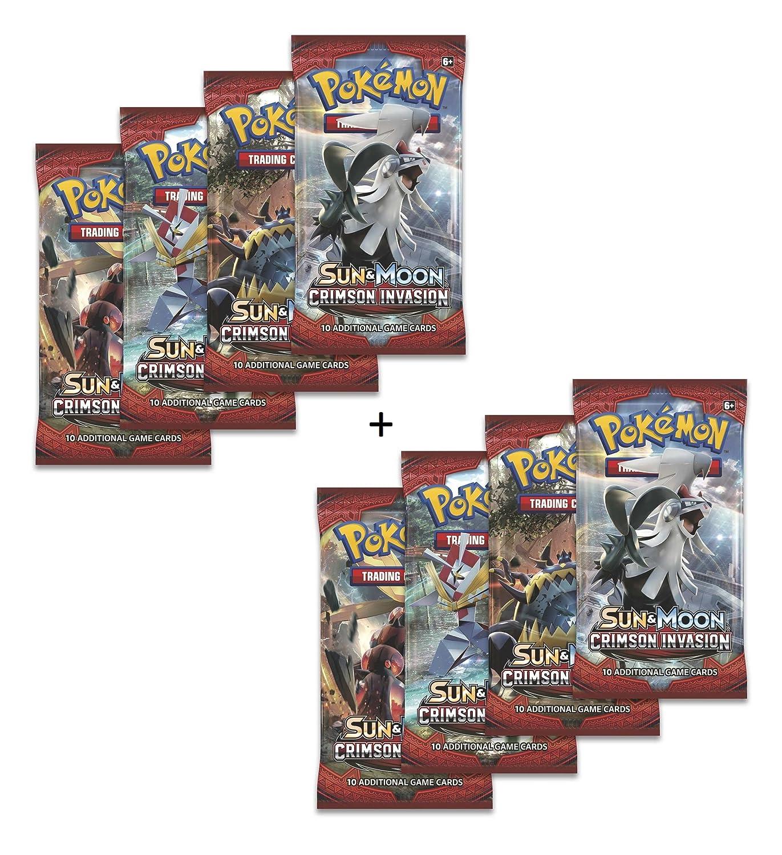 Pokemon TCG: 8 el sol y Luna carmesí invasión expansiones - Total 80 tarjetas