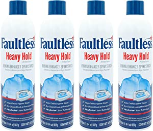 Laundry Starch Spray, Faultless Heavy Spray Starch 20 oz Cans for a Smooth Iron Glide on Clothes & Fabric Even Spray, Easy Iron Glide, No Reside (Pack of 4)