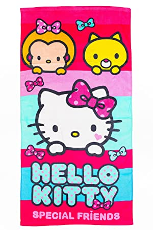 Hello Kitty Toalla de playa/toalla Special Friends, 70 x 140 cm,