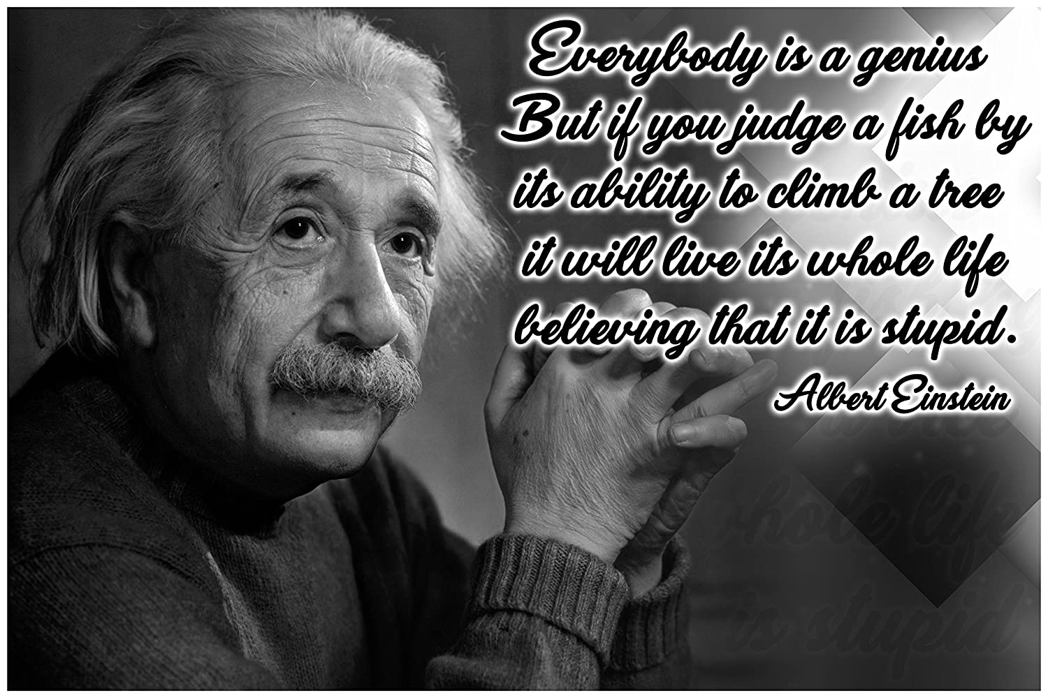 Amazon Math Posters Science Posters Albert Einstein Quote