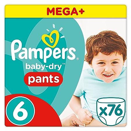 Pampers Baby Dry Pants Windeln, Gr. 6 (ab 15 kg), Mega Plus, 1er Pack (1 x 76 Stück)