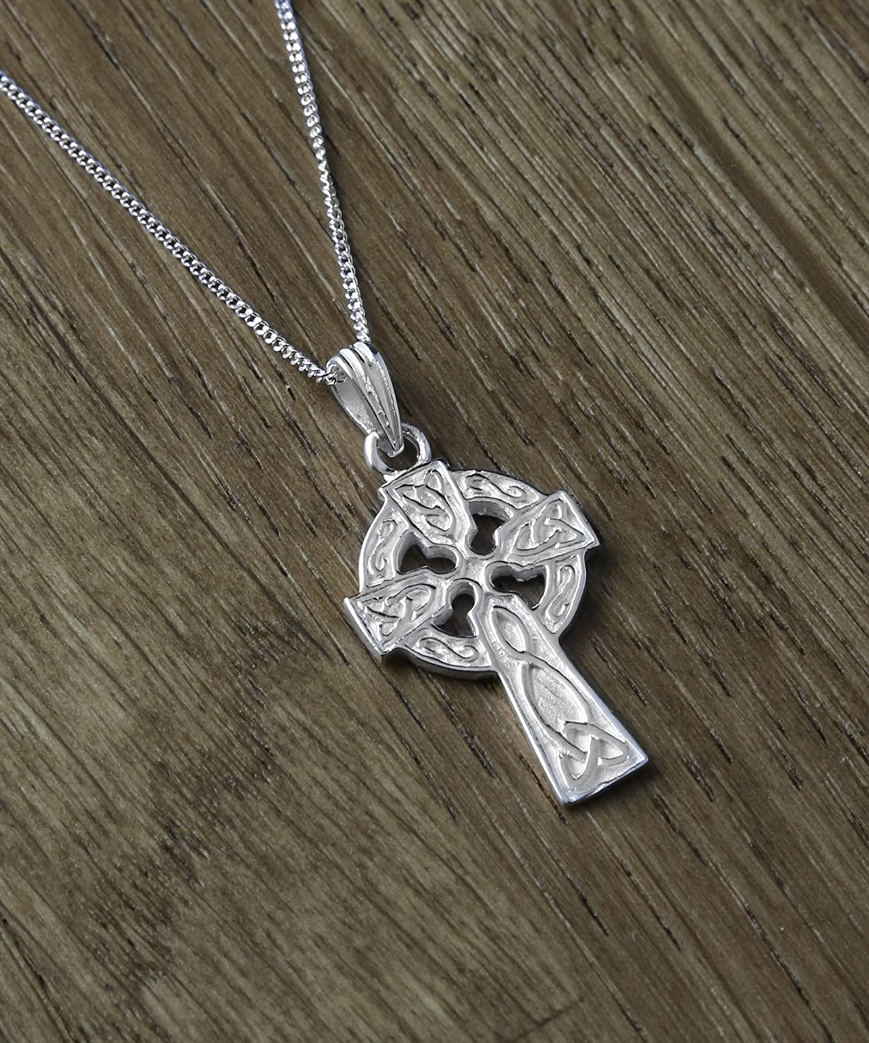 Perfect to celebrate Christening Confirmation or First Communion. Sterling Silver Satin finish Celtic Cross