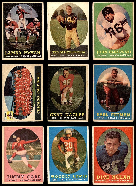 1958 Topps Chicago Cardinals Team Satz Chicago Cardinals-Fb (Baseball Set) Dean'S Cards 3 - Vg Cardinals-Fb