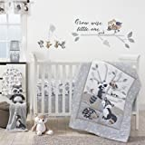 Bedtime Originals Little Rascals Forest Animals 3 Piece Crib Bedding Set, Gray/White