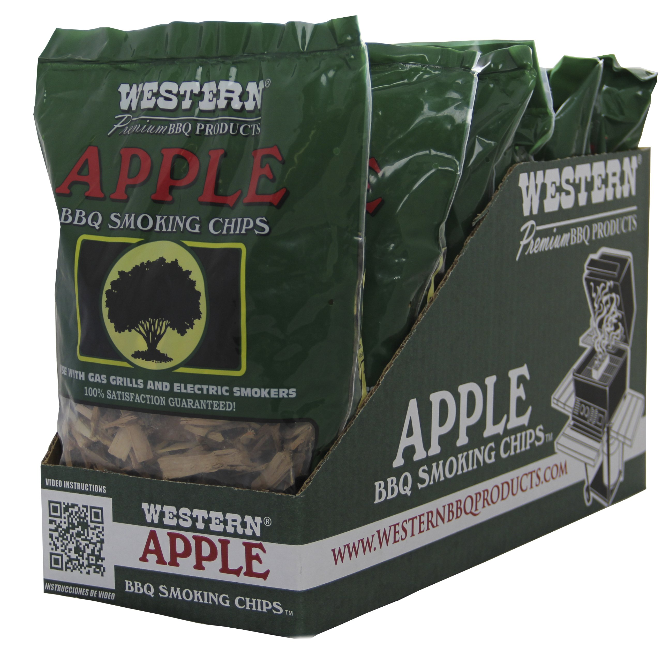 WESTERN 38065 6-Pack Apple Smoking Chips by WESTERN