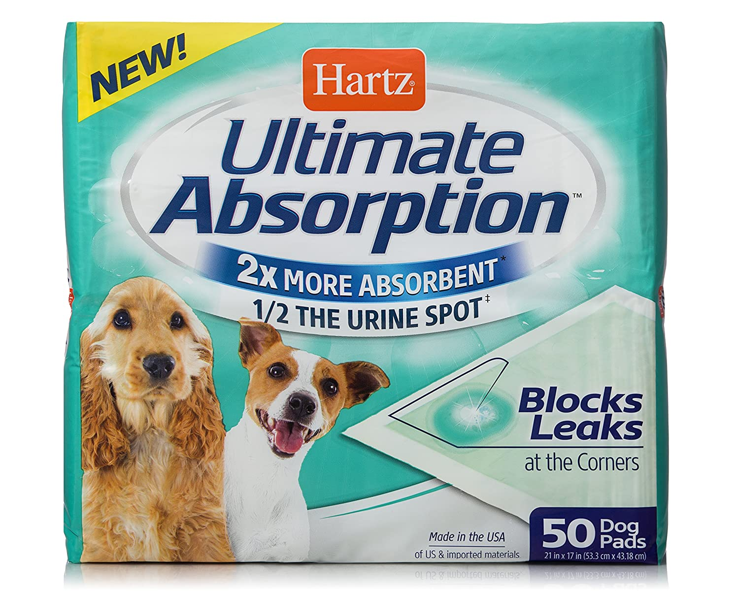 Hartz Ultimate Absorption Dog Pads - 50 Count 3270015482