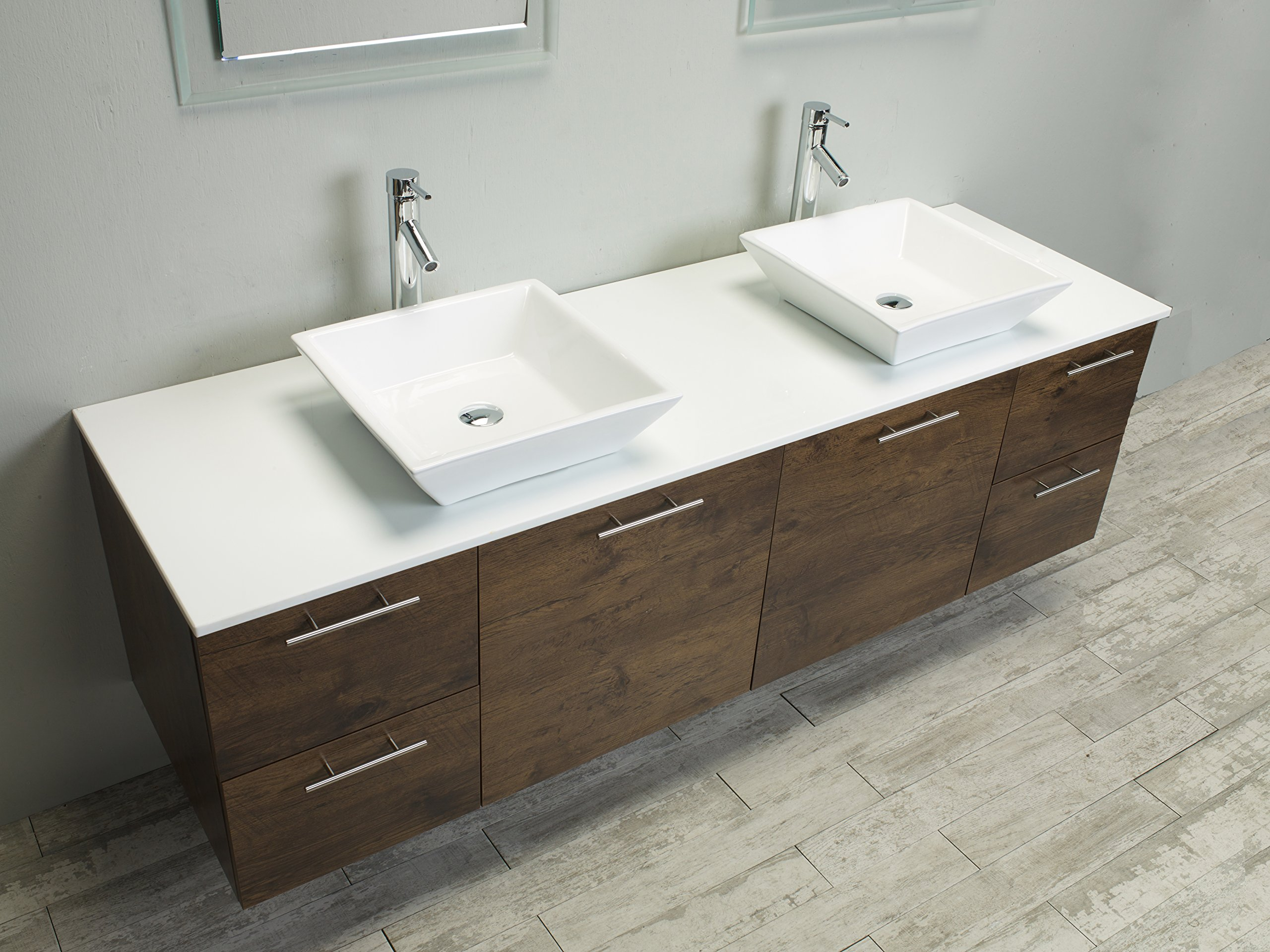 Eviva Luxury 72-inch Rosewood bathroom cabinet only by Eviva (Image #4)