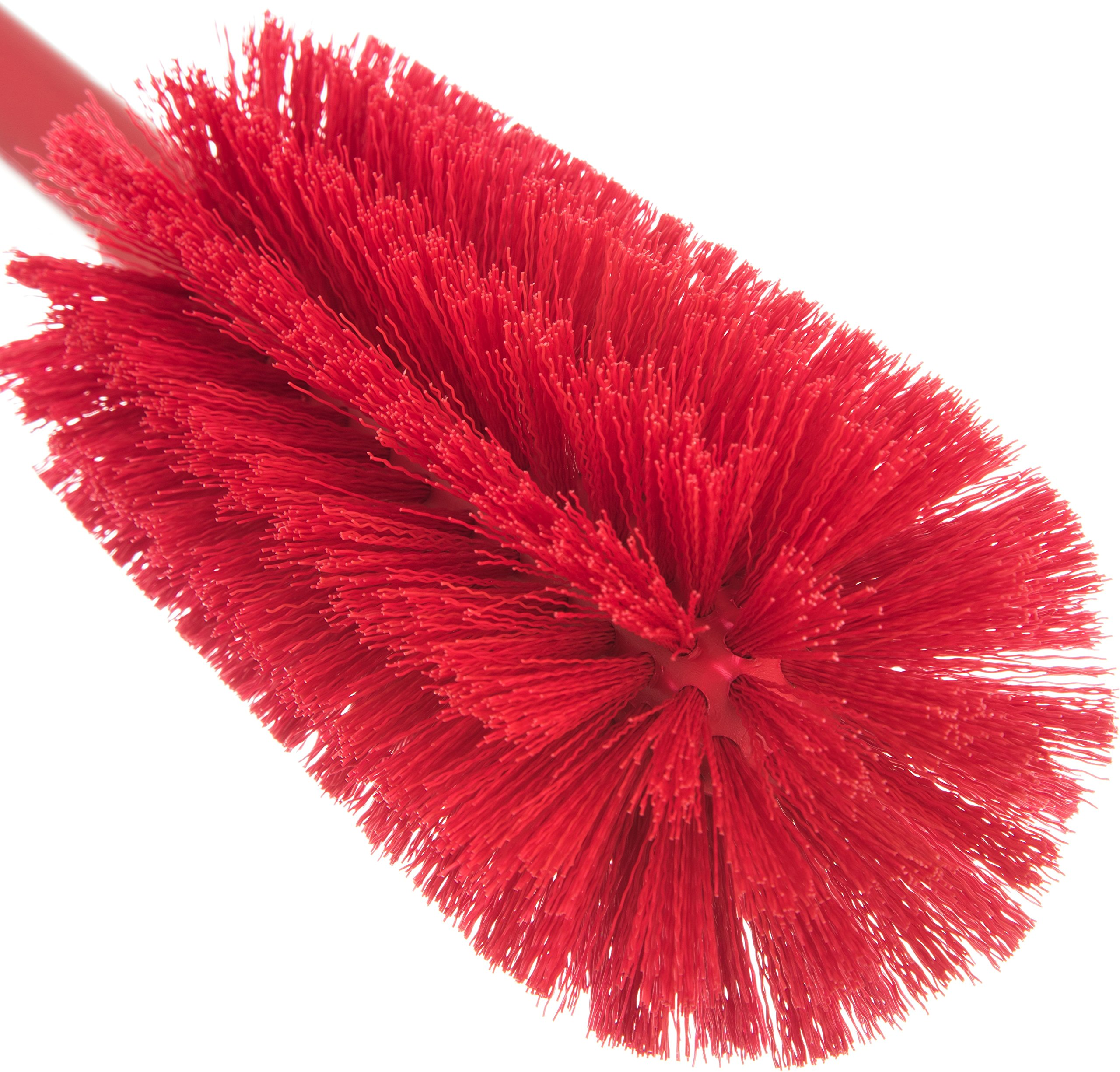 Carlisle 40001C05 Commercial Bottle Brush, Polyester Bristles, 16'' Length, Red (Pack of 6) by Carlisle (Image #4)