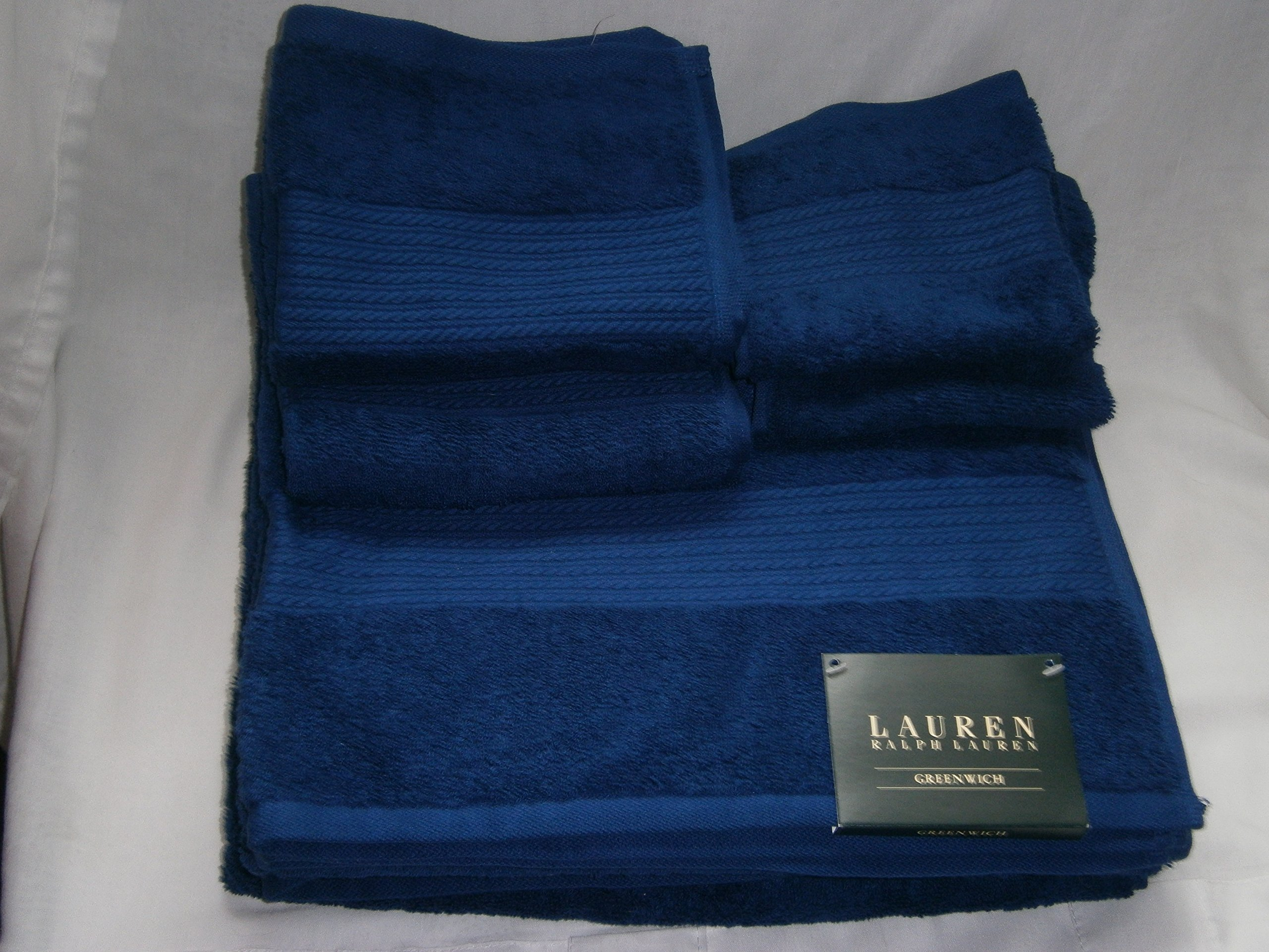 Ralph Lauren Greenwich Marine Blue 6 piece Towel Set (Navy) by Polo Ralph Lauren