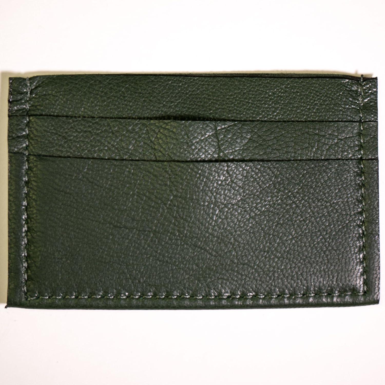 Wilt 1862 Hunter Green Davis Leather Slim Card Wallet