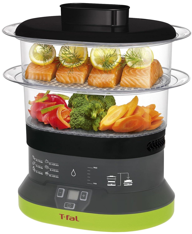 T-fal VC1338 Balanced Living Compact 2-Tier Electric Food Steamer, 4-Quart, Black