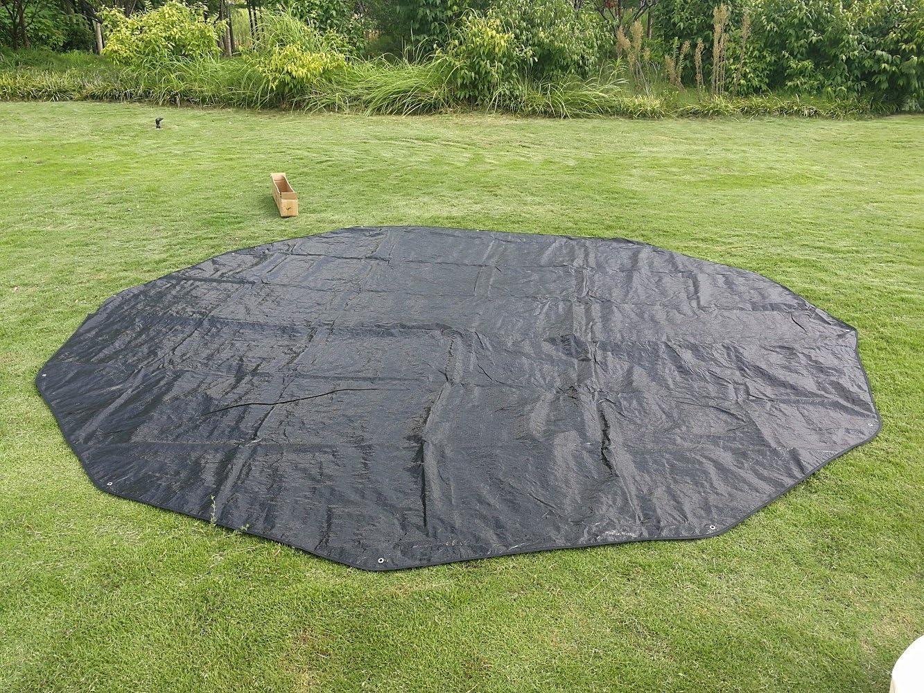 Multiple Sizes DANCHEL Footprint Mat Waterproof Camping Tarps for Bell Tent Ultralight Black