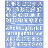 Altes Englisches Alphabet Schablonen Buchstaben Set 30mm