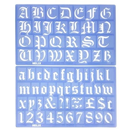 Amazon helix old english alphabet stencil set 30mm office helix old english alphabet stencil set 30mm altavistaventures Choice Image