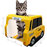 Moggiez & Doggiez CAT House, CONDO & Cats CAVE Cardboard Tower for Scratching, Sleep or Play – Free Toys & EBook Included – Pet Bed