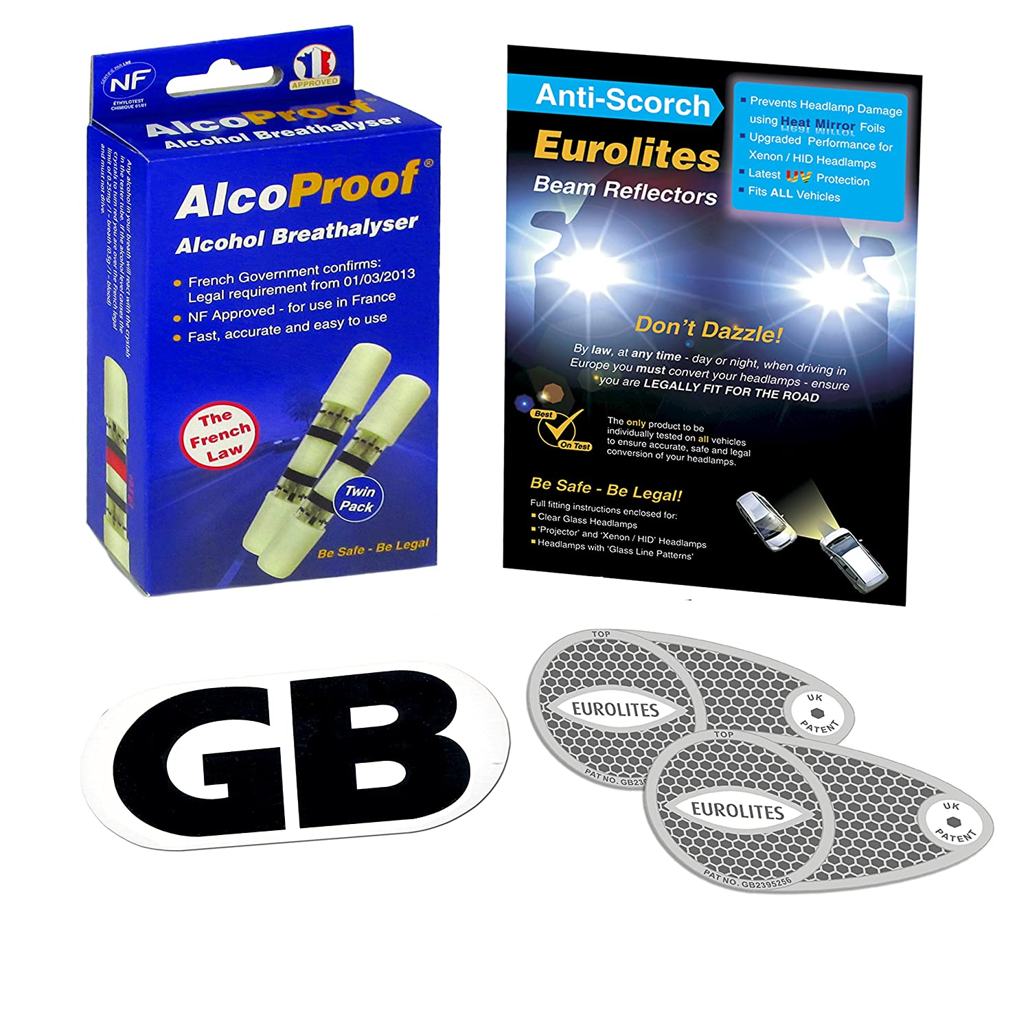Alcohol Breath Test 1 Single Tube Driving In France Long Expiry Breathalyser