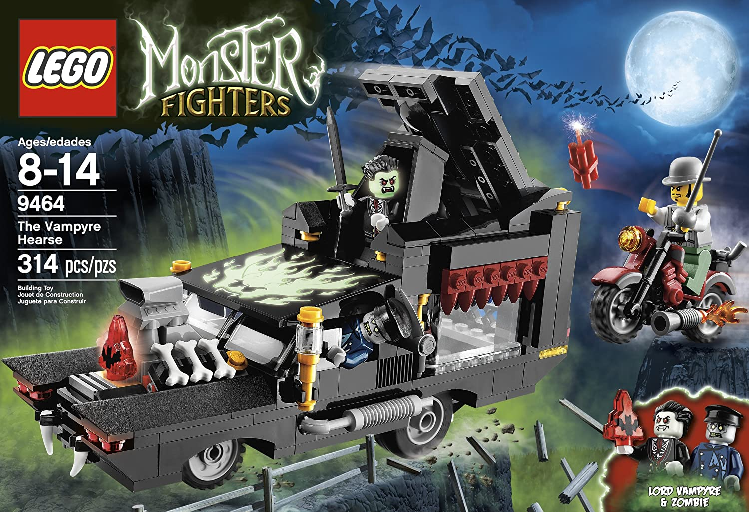 amazoncom lego monster fighters 9464 the vampyre hearse toys games - Lego Monstre