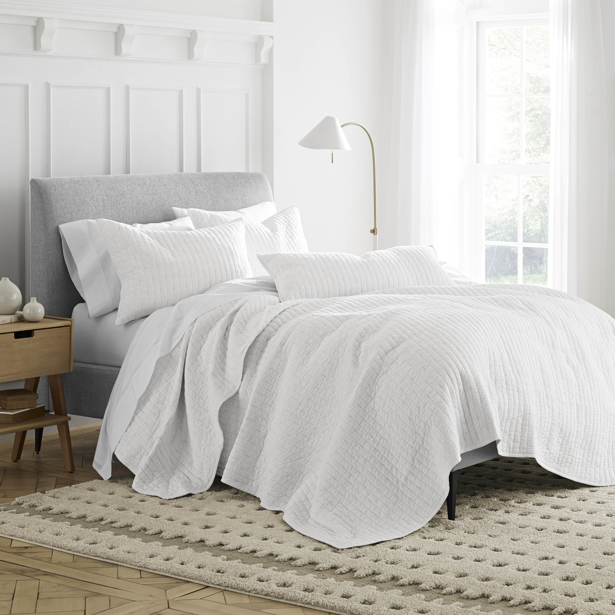 Under the Canopy Organic Quilt, Full/Queen, White